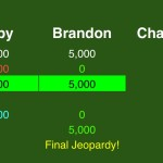 (5/7) Here is the only scenario in which Abby could win if she gets it wrong and Brandon gets it right, and they both wager optimally.
