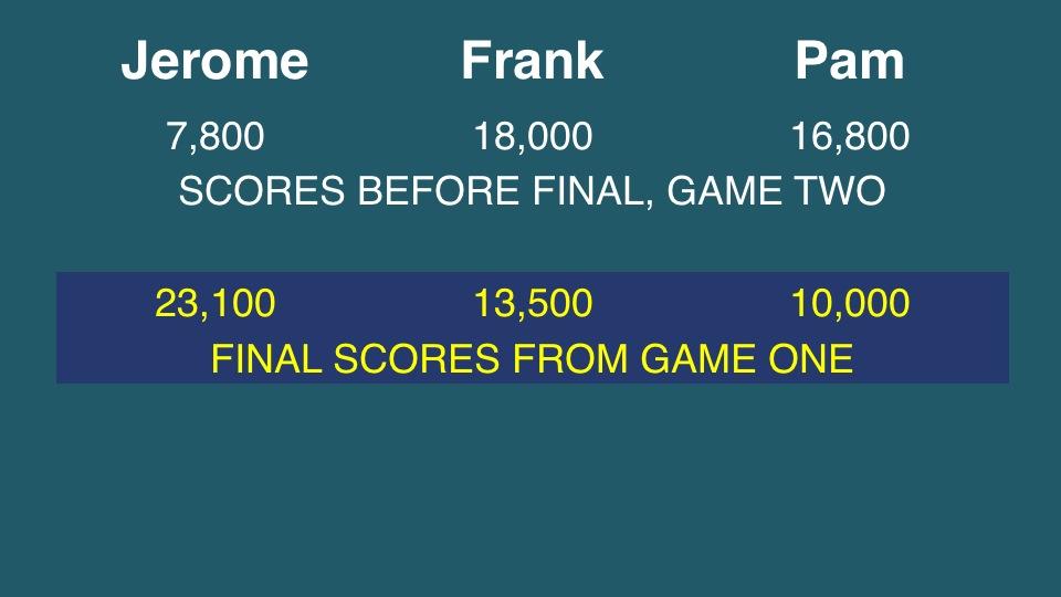 UTOC Semifinal 1 Final Jeopardy