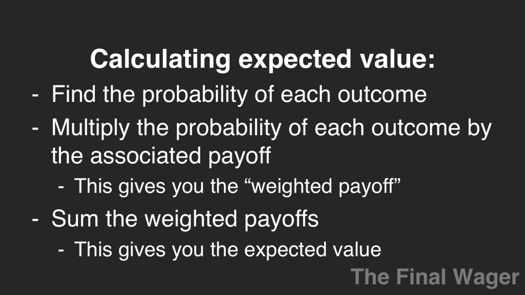 calculate expected value