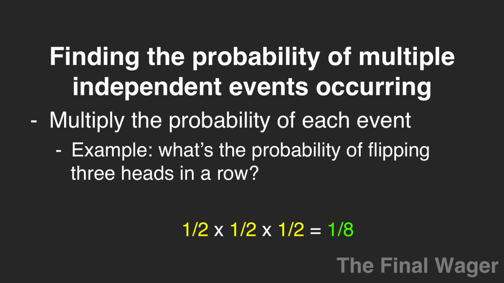 Game theory expected value independent events Slide 07