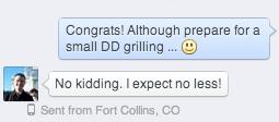 Russ DD grilling