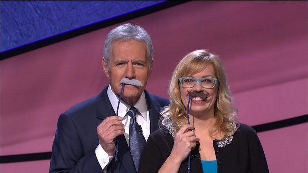 Stephanie Jass moustache Alex Trebek