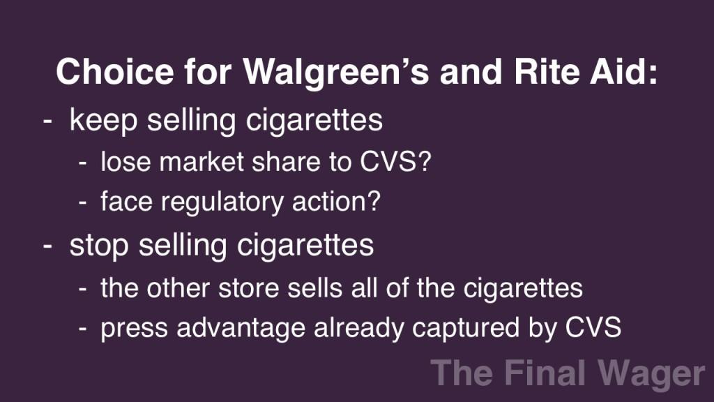 Walgreen's Rite Aid CVS cigarettes