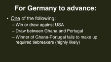 2014 FIFA World Cup Group G Germany advance