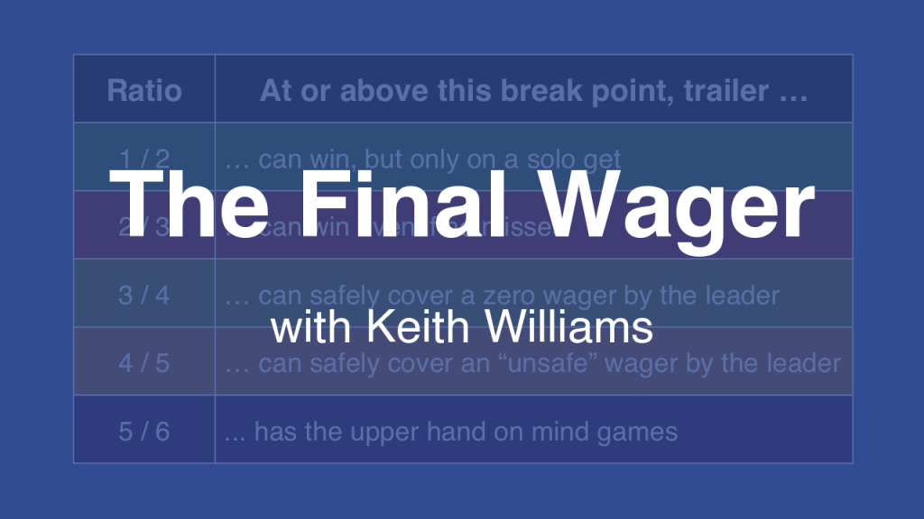 How to calculate The Final Wager break points