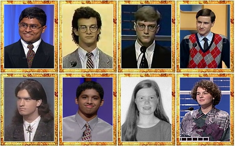 Teen Champs who went on to the TOC semifinals. (Images from J! Archive/Rice University)
