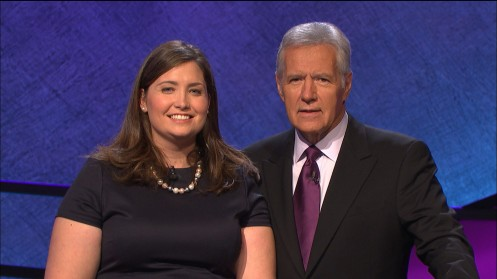 Julia Collins Alex Trebek