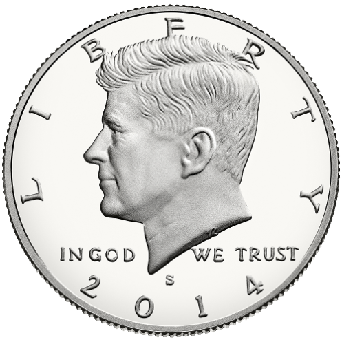 2014 half-dollar obverse proof