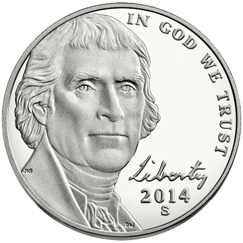 2014 nickel obverse proof