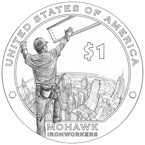 2015 dollar coin reverse line art