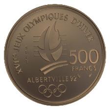 1992 Albertville 500 franc coin