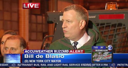 Bill de Blasio blizzard presser ABC7