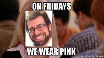 John Schultz pink