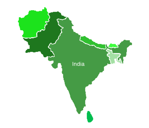 Indian subcontinent solid