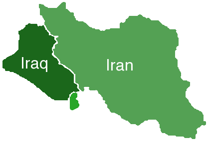 Iraq Iran Kuwait solid