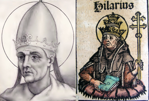 Pope Hilarius two views